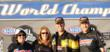 Joanne and Jon Knapp with Summit Racing Pro Stock driver Jason Line and wife Cindy